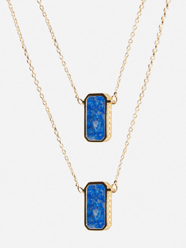 Collier Escapulario or lapis bleu